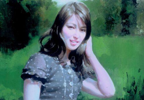 作品紹介・人物画シリーズに、「Kさんの肖像」を追加しました。